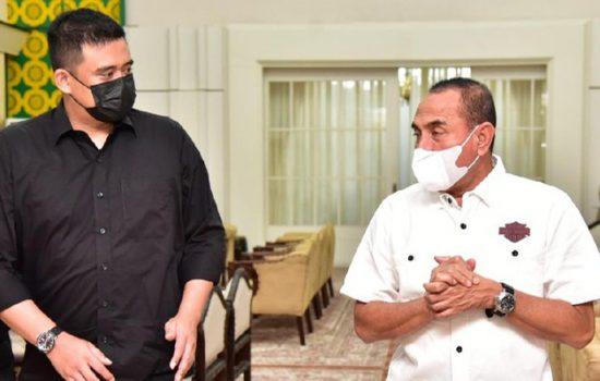 Gubsu Edy Rahmayadi bertemu Walkot Medan Bobby Nasution (Foto: dok. Diskominfo Sumut)
